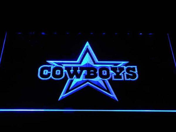 Dallas Cowboys Star Wordmark LED Neon Sign   FanSignsTime