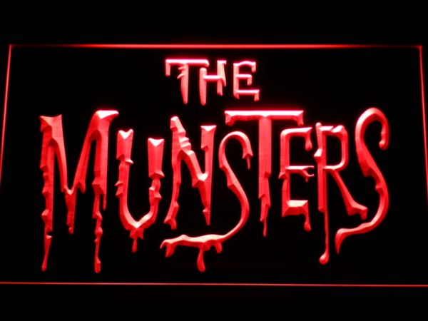 The Munsters LED Neon Sign 3 Sizes 7 Colors And Multi Color Variant