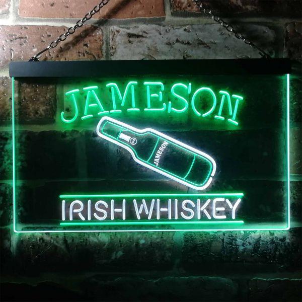 Jameson Irish Whiskey - Bottle Neon-Like LED Sign