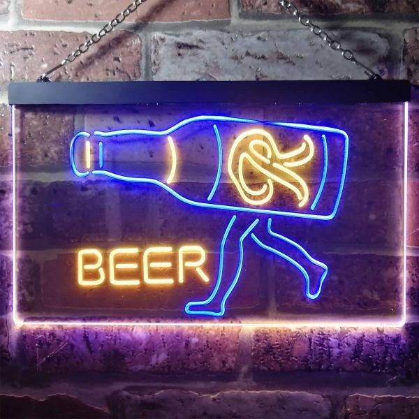 Rainier Beer Walking bottle Neon-Like LED Sign