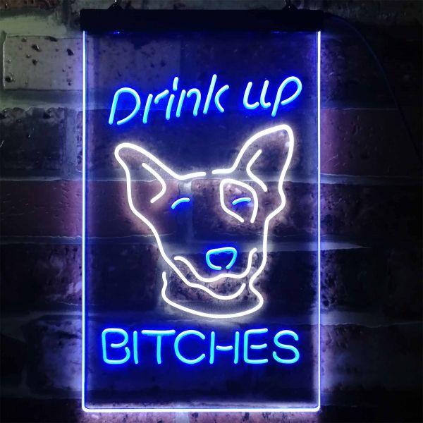 Bud Light Drink Up Dog Neon-Like LED Sign