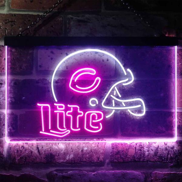 Chicago Bears  Helmet Miller Lite Neon-Like LED Sign
