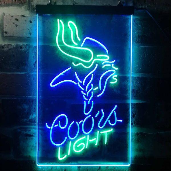 Minnesota Vikings Coors Light Neon-Like LED Sign