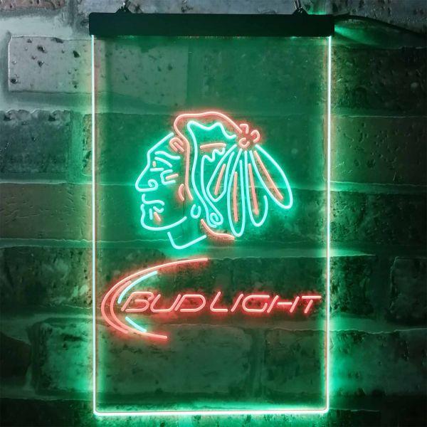 Chicago Blackhawks Bud Light Neon-Like LED Sign