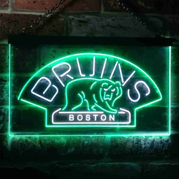 Boston Bruins Logo 1 Neon-Like LED Sign - Legacy Edition