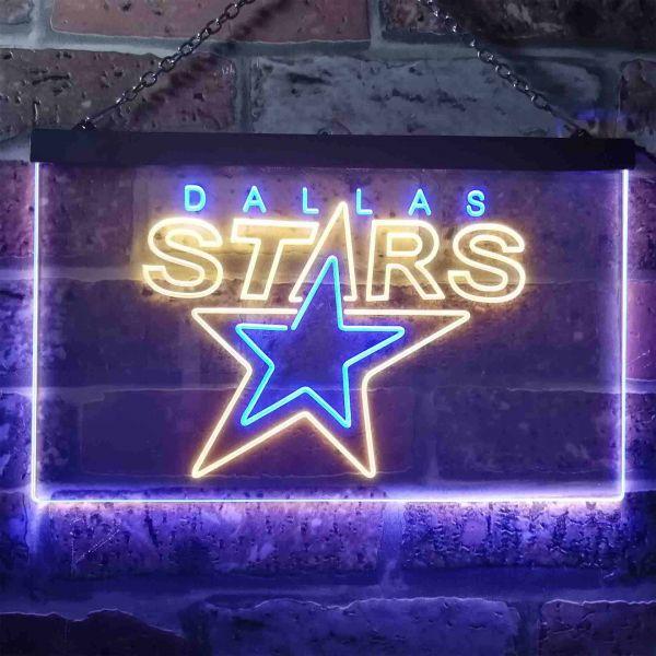 Dallas Stars Logo 2 Neon-Like LED Sign - Legacy Edition