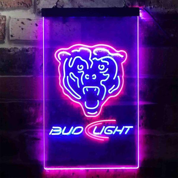 Chicago Bears Bud Light Neon-Like LED Sign | FanSignsTime