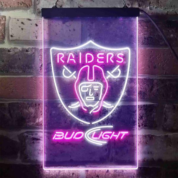 Oakland Raiders Bud Light Neon-Like LED Sign