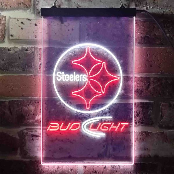 Pittsburgh Steelers Bud Light Neon-Like LED Sign