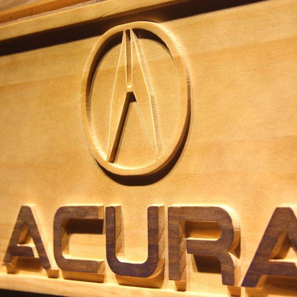 Acura Wood Sign
